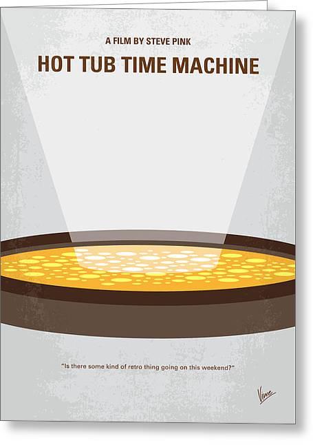 No612 My Hot Tub Time Machine Minimal Movie Poster Greeting Card