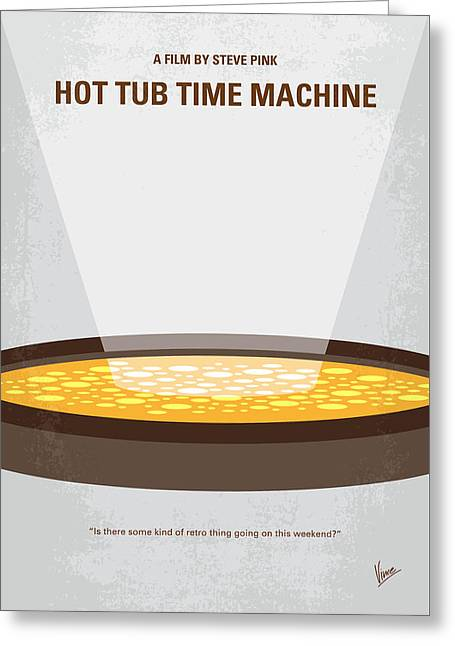 No612 My Hot Tub Time Machine Minimal Movie Poster Greeting Card by Chungkong Art