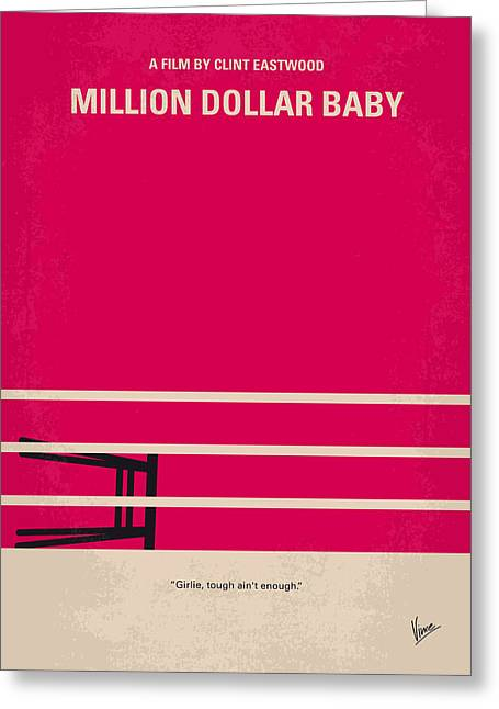 No613 My Million Dollar Baby Minimal Movie Poster Greeting Card