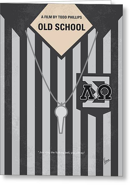 No614 My Old School Minimal Movie Poster Greeting Card