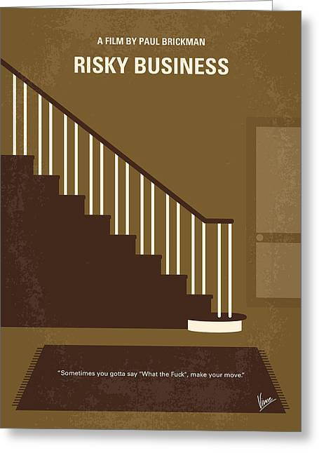 No615 My Risky Business Minimal Movie Poster Greeting Card