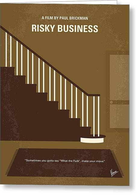 No615 My Risky Business Minimal Movie Poster Greeting Card