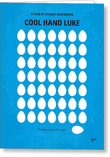 No616 My Cool Hand Luke Minimal Movie Poster Greeting Card
