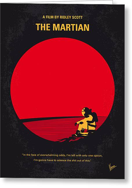No620 My The Martian Minimal Movie Poster Greeting Card
