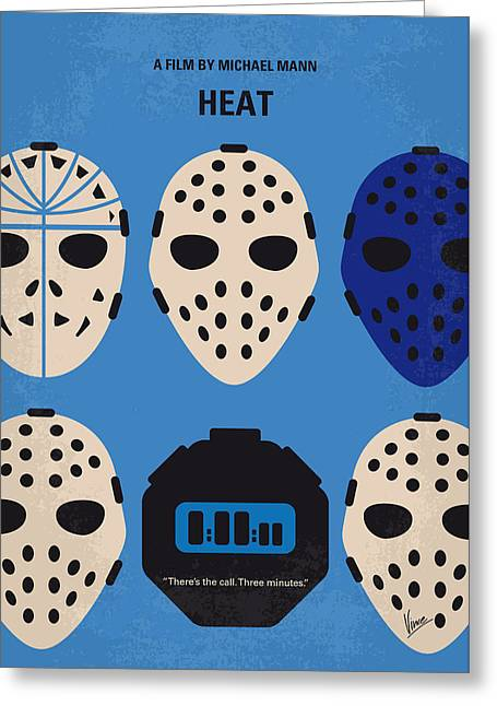 No621 My Heat Minimal Movie Poster Greeting Card by Chungkong Art