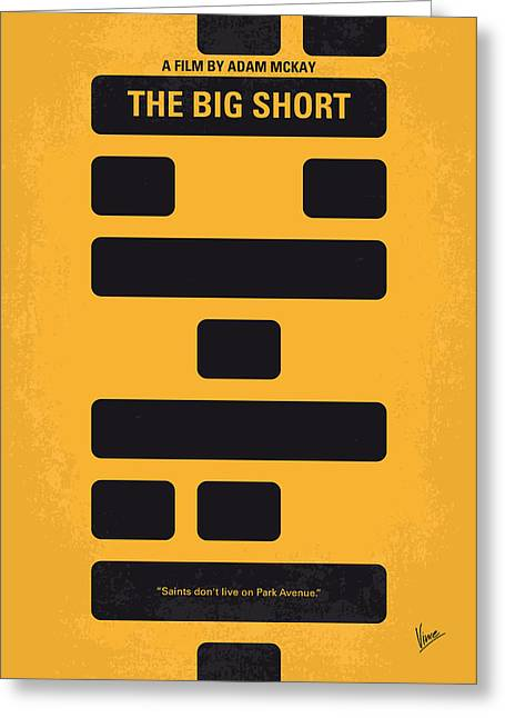 No622 My The Big Short Minimal Movie Poster Greeting Card by Chungkong Art