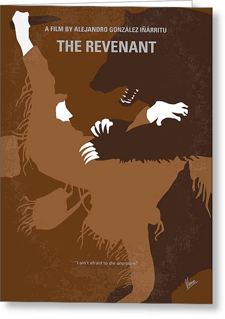 No623 My The Revenant Minimal Movie Poster Greeting Card