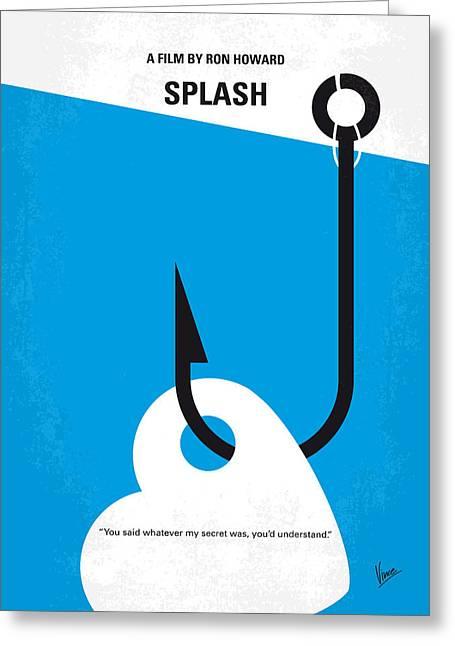 No625 My Splash Minimal Movie Poster Greeting Card