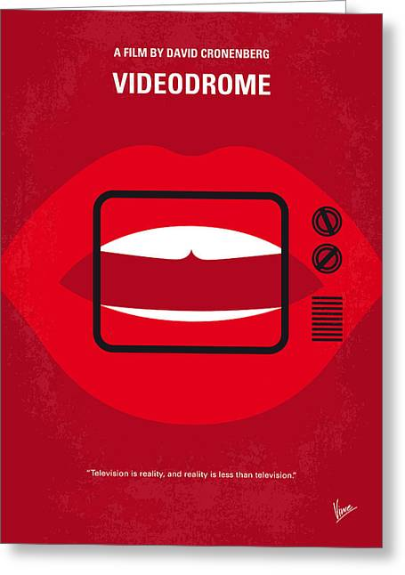 No626 My Videodrome Minimal Movie Poster Greeting Card by Chungkong Art