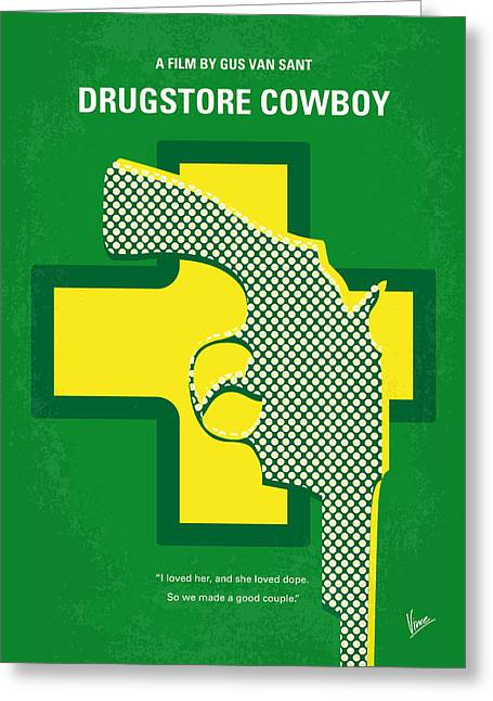 No628 My Drugstore Cowboy Minimal Movie Poster Greeting Card