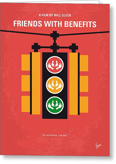 No629 My Friends With Benefits Minimal Movie Poster Greeting Card by Chungkong Art