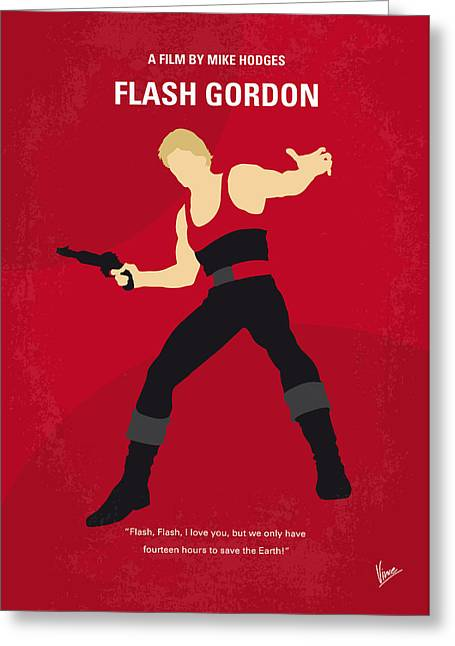 No632 My Flash Gordon Minimal Movie Poster Greeting Card