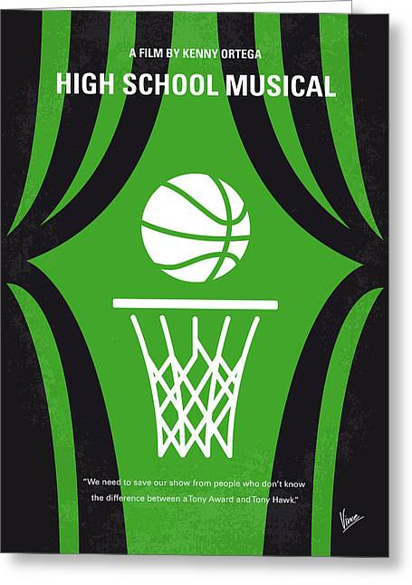 No633 My High School Musical Minimal Movie Poster Greeting Card