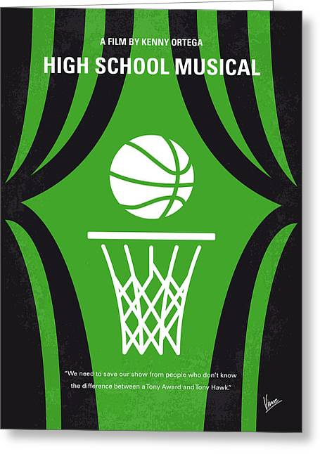 No633 My High School Musical Minimal Movie Poster Greeting Card by Chungkong Art