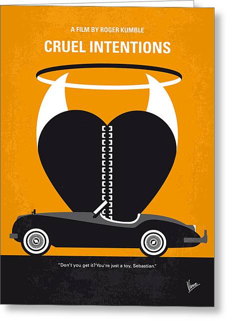 No635 My Cruel Intentions Minimal Movie Poster Greeting Card by Chungkong Art