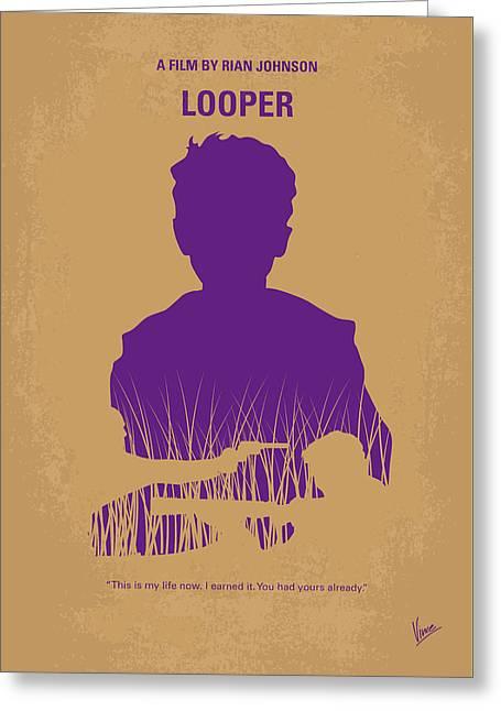 No636 My Looper Minimal Movie Poster Greeting Card by Chungkong Art