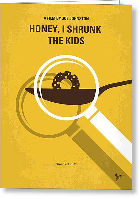 No641 My Honey I Shrunk The Kids Minimal Movie Poster Greeting Card