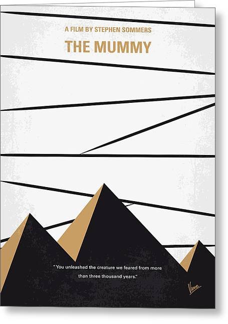 No642 My The Mummy Minimal Movie Poster Greeting Card