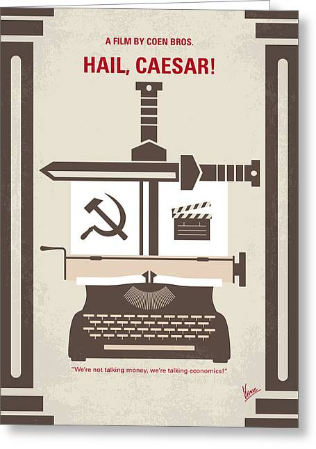 No645 My Hail Caesar Minimal Movie Poster Greeting Card by Chungkong Art