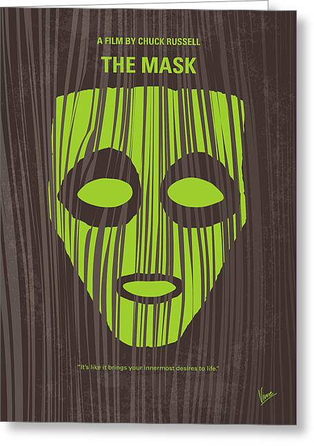 No647 My The Mask Minimal Movie Poster Greeting Card by Chungkong Art