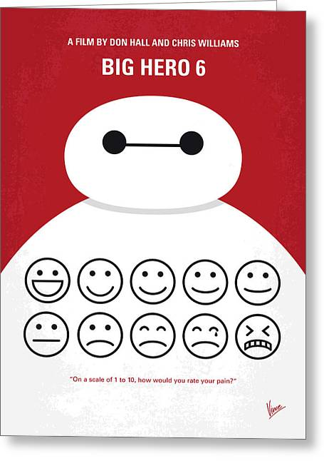 No649 My Big Hero 6 Minimal Movie Poster Greeting Card