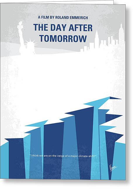 No651 My The Day After Tomorrow Minimal Movie Poster Greeting Card by Chungkong Art