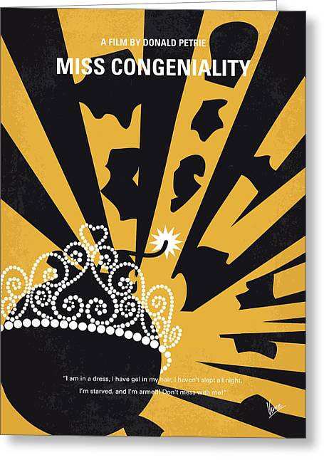No652 My Miss Congeniality Minimal Movie Poster Greeting Card by Chungkong Art