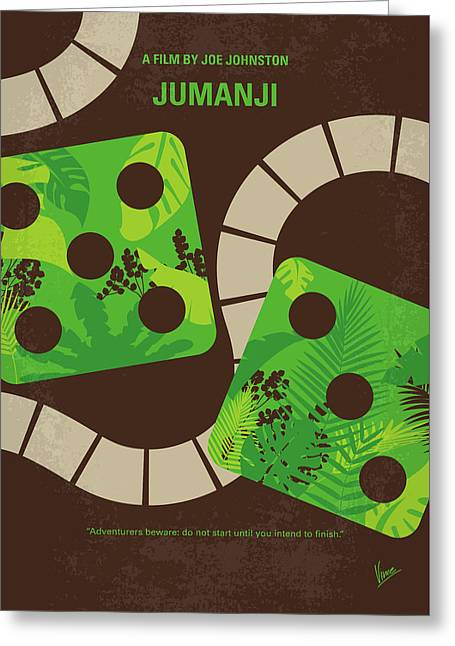 No653 My Jumanji Minimal Movie Poster Greeting Card by Chungkong Art