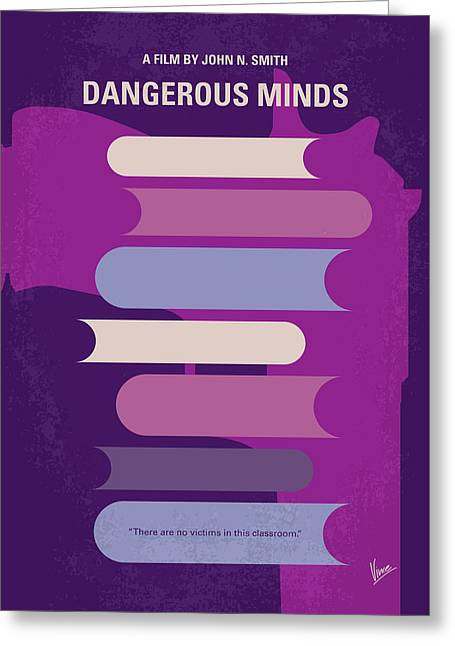 No655 My Dangerous Minds Minimal Movie Poster Greeting Card