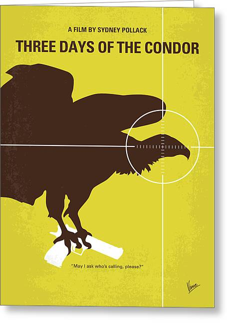 No659 My Three Days Of The Condor Minimal Movie Poster Greeting Card