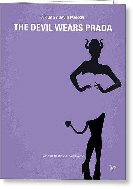 No661 My The Devil Wears Prada Minimal Movie Poster Greeting Card by Chungkong Art