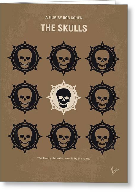 No662 My The Skulls Minimal Movie Poster Greeting Card by Chungkong Art