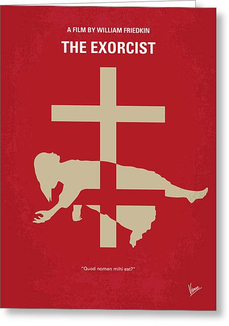 No666 My The Exorcist Minimal Movie Poster Greeting Card by Chungkong Art