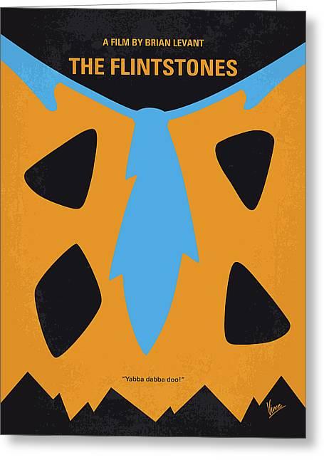No669 My The Flintstones Minimal Movie Poster Greeting Card