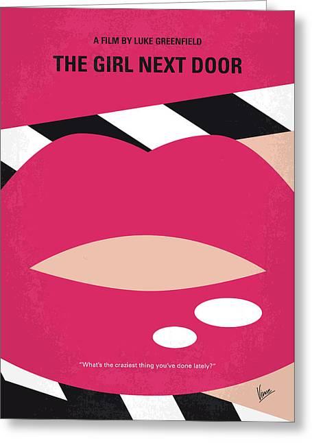 No670 My The Girl Next Door Minimal Movie Poster Greeting Card