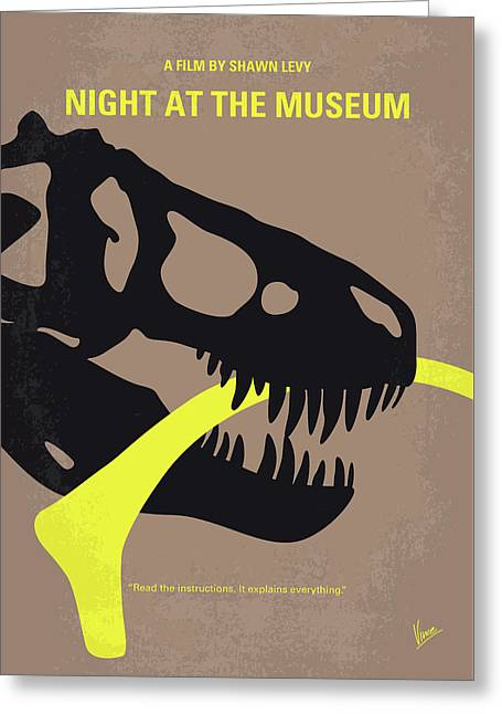 No672 My Night At The Museum Minimal Movie Poster Greeting Card by Chungkong Art