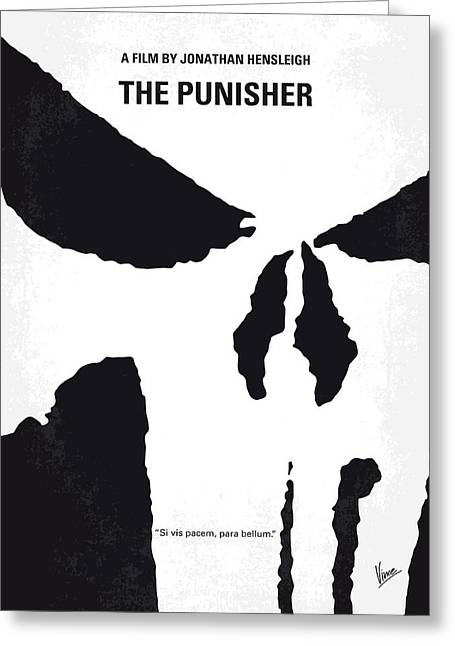 No676 My The Punisher Minimal Movie Poster Greeting Card
