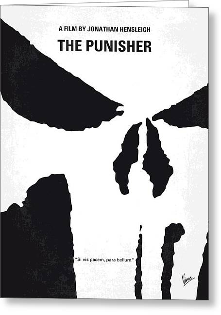 No676 My The Punisher Minimal Movie Poster Greeting Card by Chungkong Art