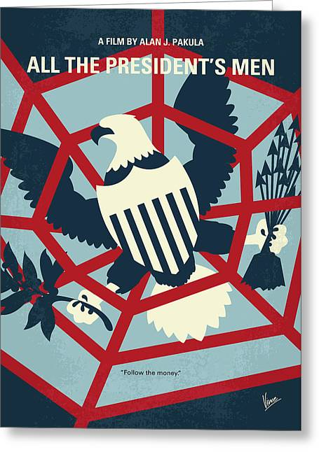 No678 My All The Presidents Men Minimal Movie Poster Greeting Card