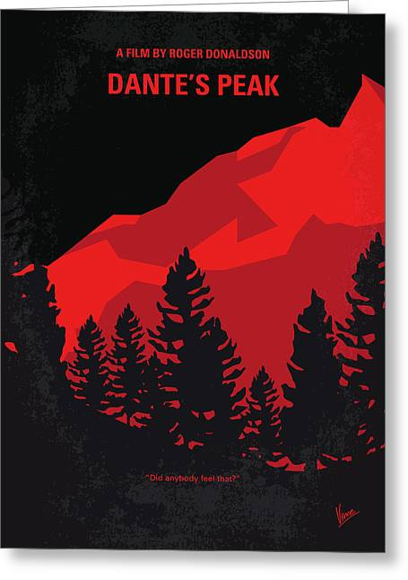 No682 My Dantes Peak Minimal Movie Poster Greeting Card by Chungkong Art