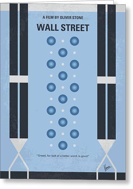 No683 My Wall Street Minimal Movie Poster Greeting Card