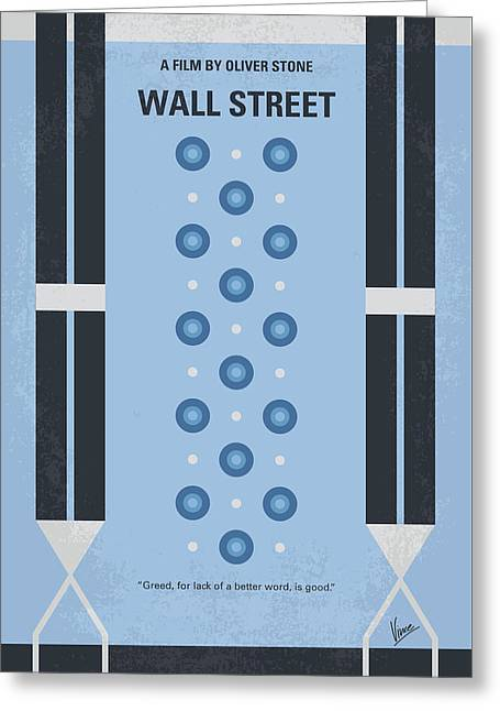 No683 My Wall Street Minimal Movie Poster Greeting Card