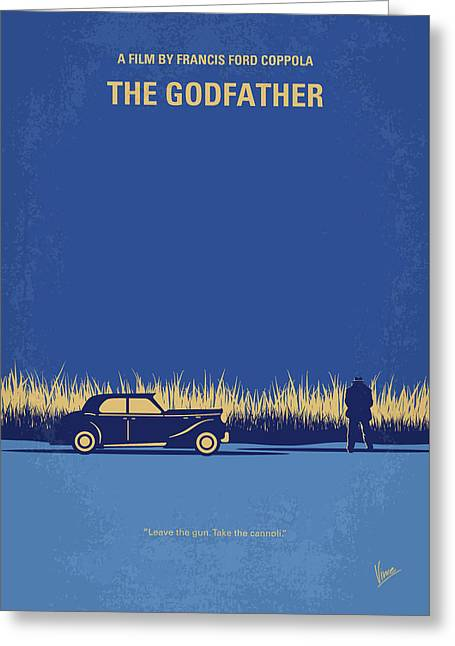 No686-1 My Godfather I Minimal Movie Poster Greeting Card by Chungkong Art