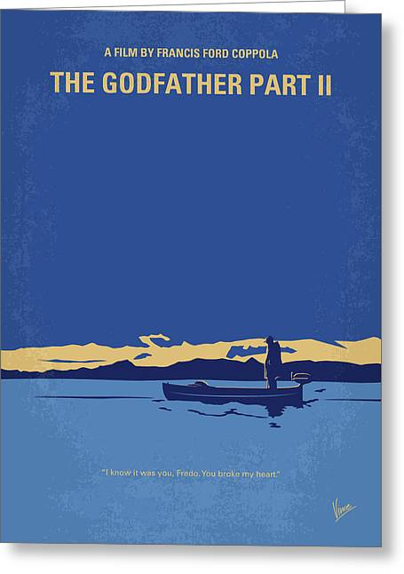 No686-2 My Godfather II Minimal Movie Poster Greeting Card