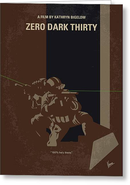 No692 My Zero Dark Thirty Minimal Movie Poster Greeting Card by Chungkong Art