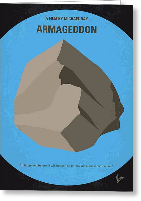 No695 My Armageddon Minimal Movie Poster Greeting Card