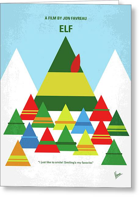 No699 My Elf Minimal Movie Poster Greeting Card
