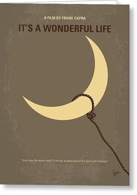No700 My Its A Wonderful Life Minimal Movie Poster Greeting Card