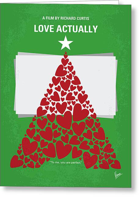 No701 My Love Actually Minimal Movie Poster Greeting Card by Chungkong Art