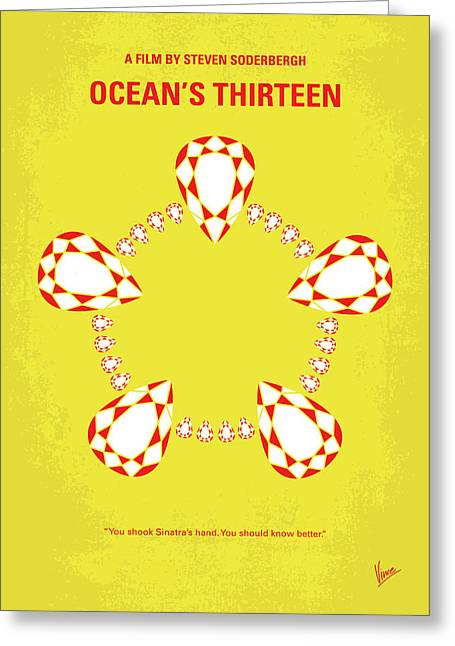 No706 My Oceans 13 Minimal Movie Poster Greeting Card by Chungkong Art
